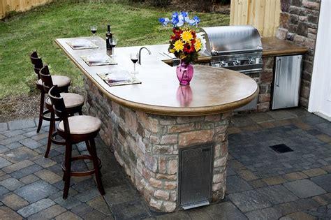 Concrete Countertops Outdoor by Outdoor Kitchen Williamsburg Va Photo Gallery