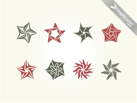 star pattern ai star vector design elements graphicswall