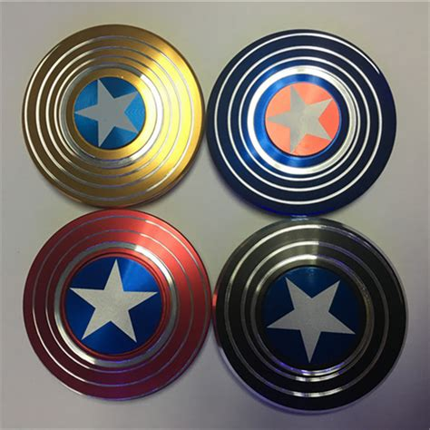 Spiner Captain America by Spinner Fidget Spinner Focus Adhd Autism Captain