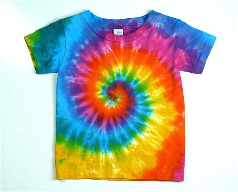 tie dye shirt pink rainbow spiral and colorful back