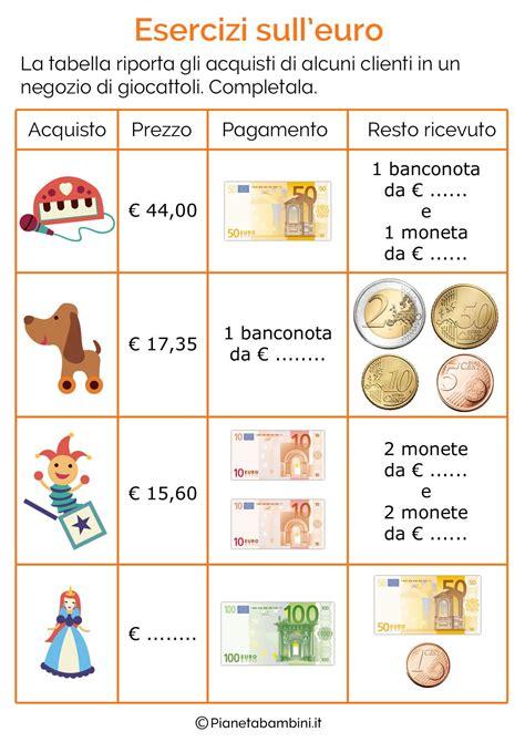 esercizi spagnolo con tutte 8882118606 schede didattiche sull euro per bambini della scuola