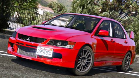 mitsubishi lancer evolution mitsubishi lancer evolution ix mr add on gta5 mods com