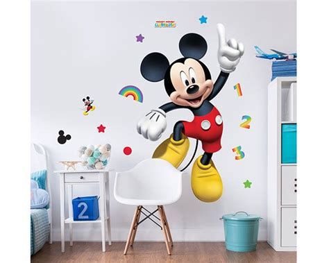 Sticker Stiker Label Pengiriman Disney Mickey Mouse Miki Tikus wall sticker disney mickey mouse walldesign56 wall decals murals posters