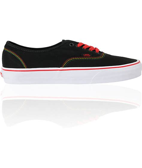 Sepatu Vans Authentic Checker Rasta vans authentic black rasta skate shoes zumiez