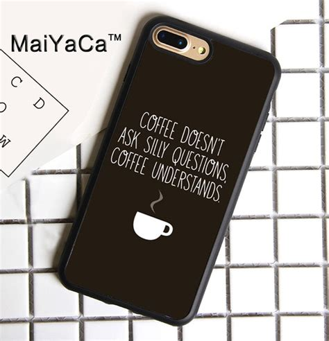 maiyaca coffee doesnt  silly questions quote soft tpu phone case  apple iphone