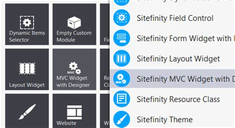 sitefinity template builder asp net mvc support sitefinity cms