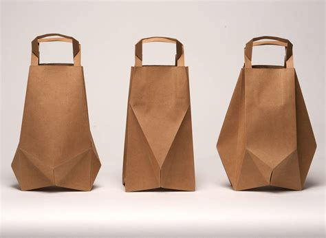 Origami Paper Bag - handle bags logo bags color bags kraft paper bags