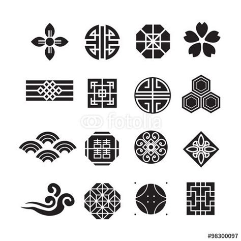 chinese pattern logo 벡터 일러스트 편집용 파일 asian ornament icon korean chinese