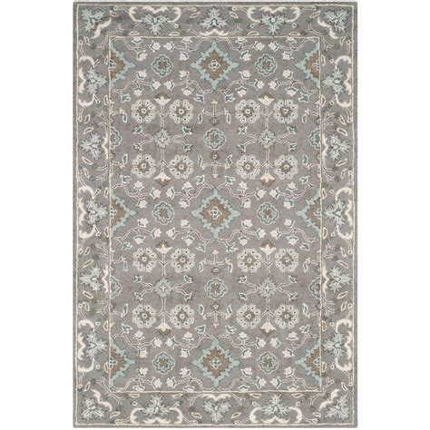 Home Depot Safavieh Rugs Safavieh Blossom Grey 4 Ft X 6 Ft Area Rug Blm218a 4