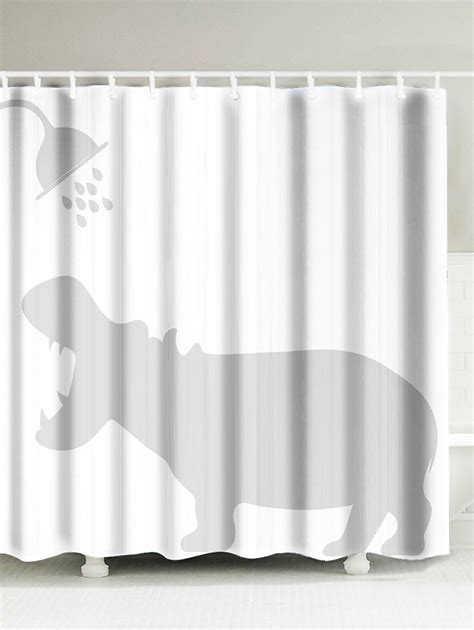 water resistant fabric shower curtain hippo shadow water resistant fabric shower curtain white