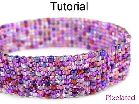 Beading Tutorial Pattern Bracelet   Square Stitch   Simple Bead Patterns   Pixelated #5368 on Luulla