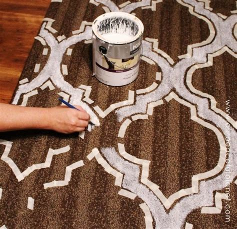 Can You Paint An Area Rug how to stencil paint carpet our peaceful planet