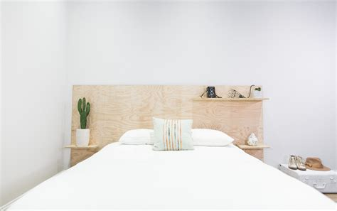 Plywood Headboard Diy by Mr Kate Diy Minimalist Plywood Shelf Headboard