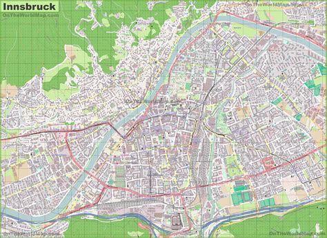 on map large detailed map of innsbruck