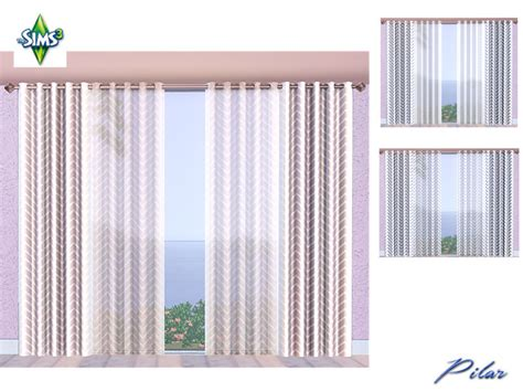 sims 3 curtains pilar s fashion curtain3