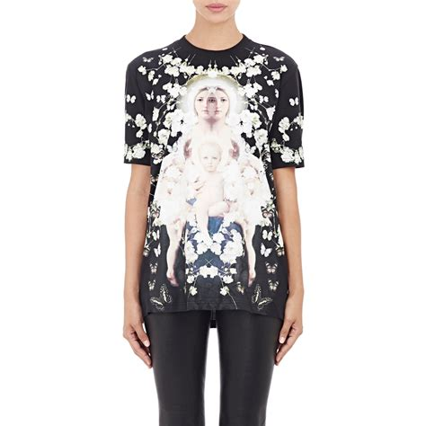 lyst givenchy baby s breath madonna t shirt in black