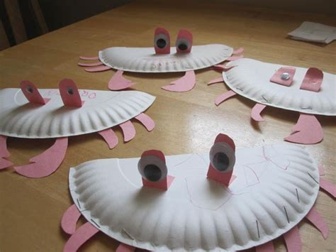 Paper Plate Crab Craft - paper plate crab