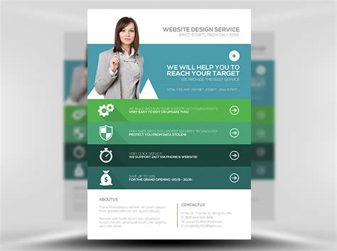 flyer design templates flat style web agency flyer template flyerheroes