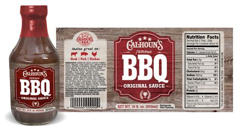 Calhoun S Sauce Labels Andrew Gresham Design Sauce Bottle Label Template