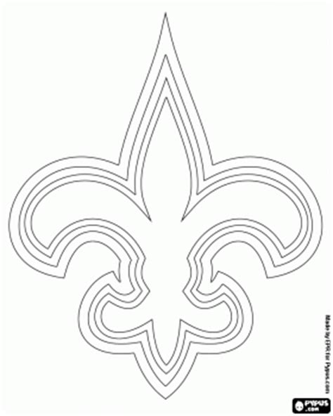 nfl saints coloring pages logo of new orleans saints american football team in the