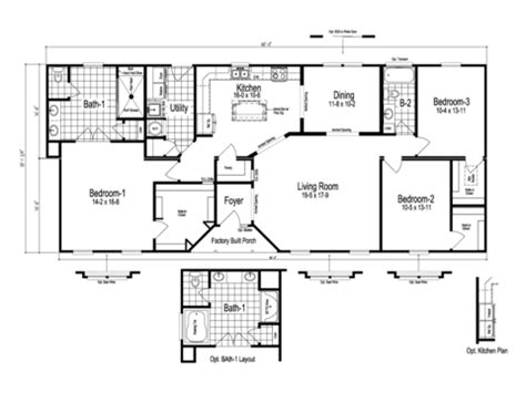 the stanley manufactured home floor plan or modular floor