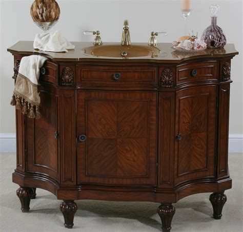 Ultimate accents cherry burl bathroom vanity empire styled