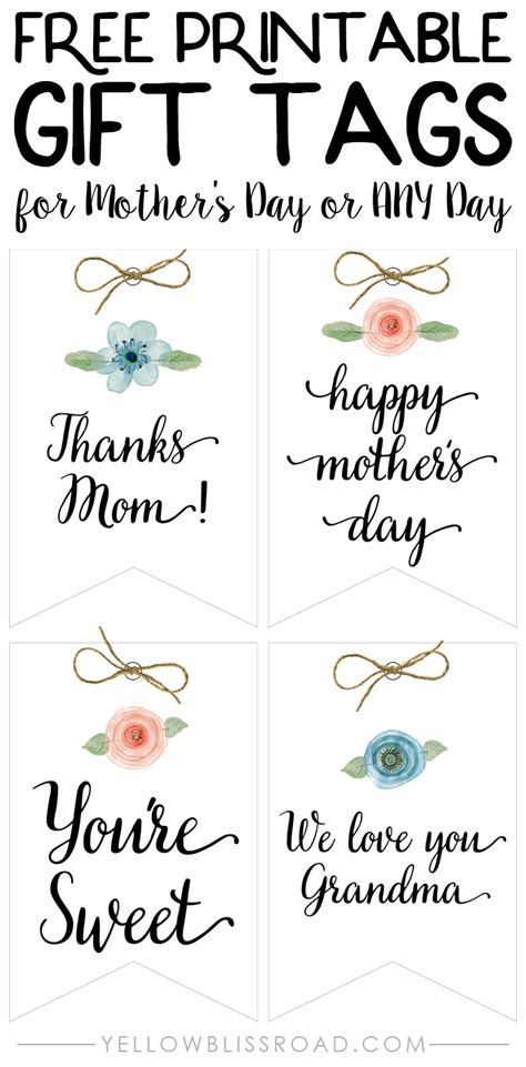Happy Mothers Day Printables