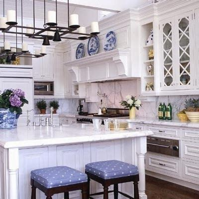the glam pad 25 classic white kitchens with blue white 1000 ideas about blue white kitchens on pinterest sarah