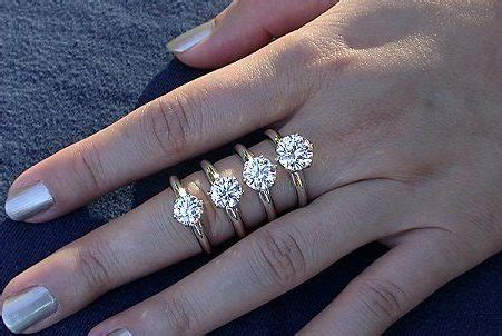 Wedding Ring Vs Normal Ring by What Is The Average Size For An Engagement Ring
