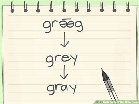 spell color gray how to spell the color gray 9 steps with pictures wikihow