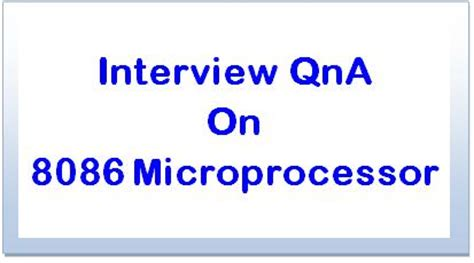 microprocessor tutorial questions and answers interview bank