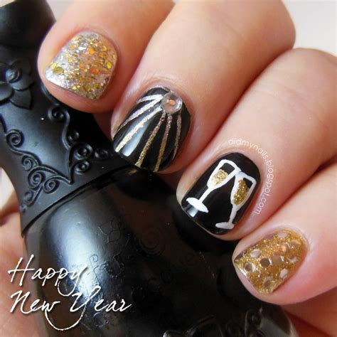 new year nail design new year nails new year nail designs