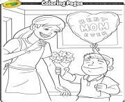 crayola coloring pages mothers day mothers day coloring pages color online free printable
