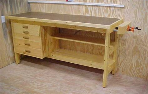 wooden workshop benches blog woods mobile woodworking bench plans