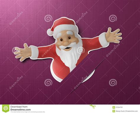 How To Make A 3d Santa Out Of Paper - santa cut out of paper stock image image 27554791