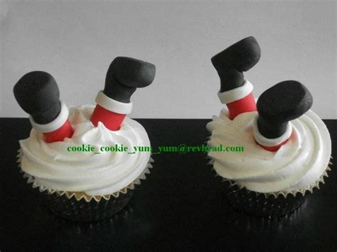12 edible 3d christmas santa legs cake cupcake decoration