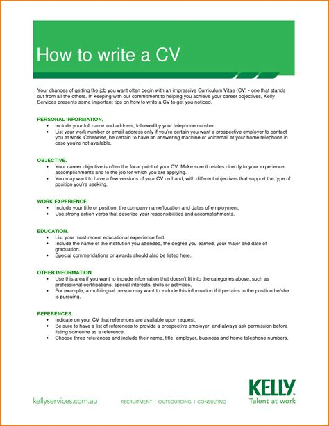 13 How To Write Cv Image Lease Template How To Write A To Your Template