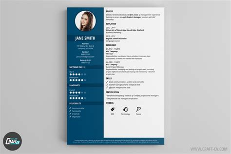 Best Resume Template In English by Cv Maker Professional Cv Examples Online Cv Builder