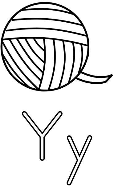 yarn coloring page printable worksheets  kids