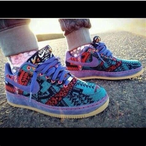 tribal patterned shoes shoes nike air force shoes nikes tribal print wheretoget