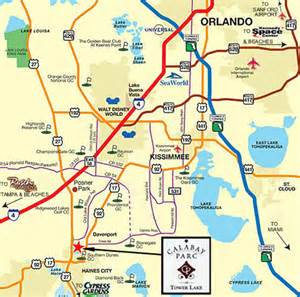 Orlando Highway Map by Around The World Lake Orlando Florida