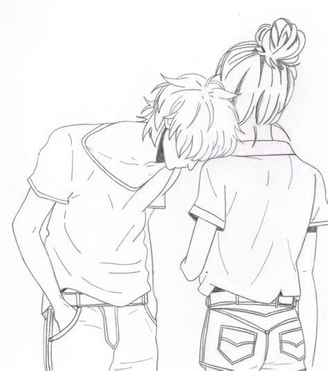 cute anime couple by olivevanilla on deviantart