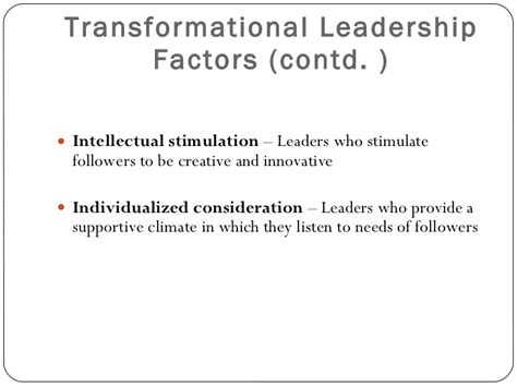 Intellectual Stimulation For Higher Education Mba by Transformational Leadership Theory Latst