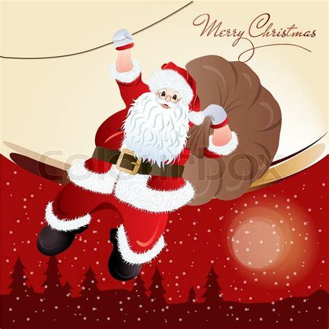 Text Santa Gift Card - santa claus greeting card design in vector format stock vector colourbox