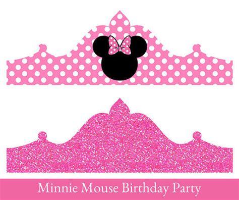 printable birthday crown minnie mouse birthday crown printable from