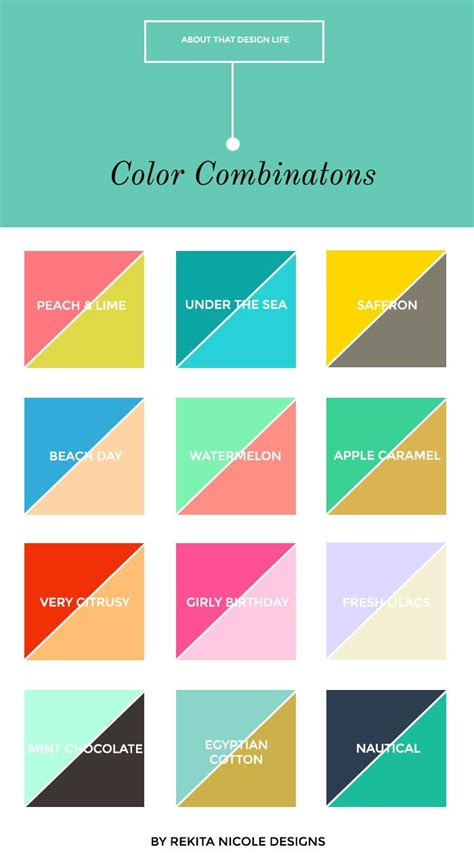 Color Pairings | 12 color combinations watermelon classic and colour