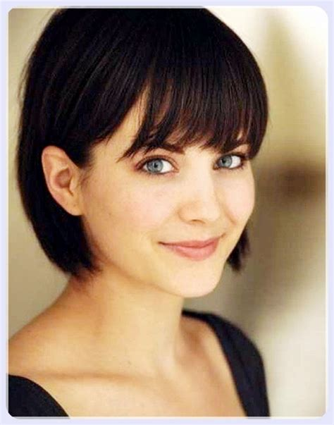cute haircuts for straight hair with bangs short straight hair with bangs trend hairstyles 2018