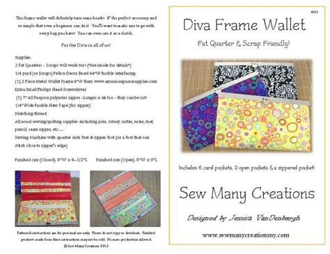 frame wallet pattern diva frame wallet pattern