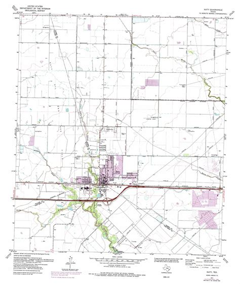katy texas map katy topographic map tx usgs topo 29095g7