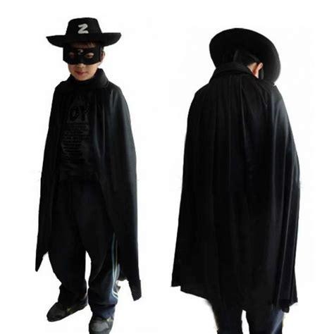 Eet Eye Grosir Pakaian Anak Setelan Anak Perempuan hallowmas 3 pcs anak zorro kostum set cape eye mask topi untuk pesta